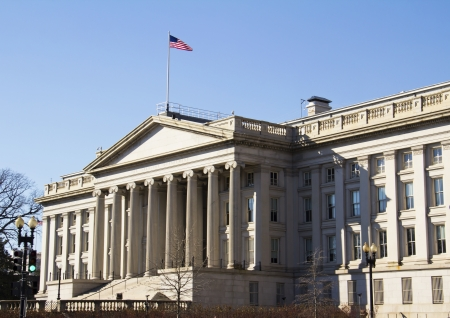 Treasury Department building in Washington, DC  photo