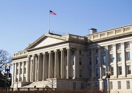 irs: Treasury Department building in Washington, DC