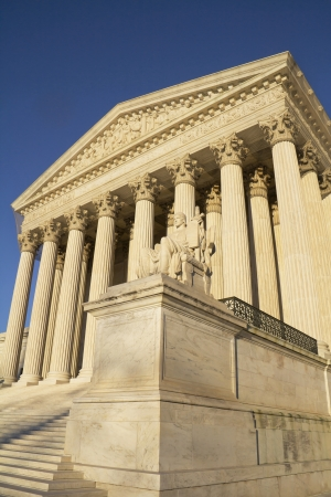justice scales: Supreme Court building in Washington, DC, United States of America  Stock Photo