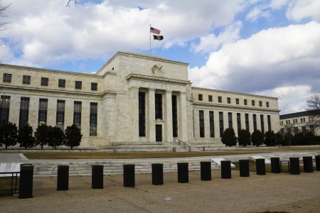 federal reserve: FED, Federal Reserve in Washington, DC, USA  Editorial