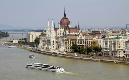 Hungarian parliament, Budapest Stock Photo