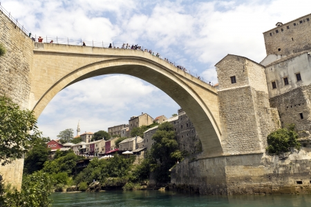 mostar: Old Bridge, Mostar, Bosniaand Herzegovina  Stock Photo