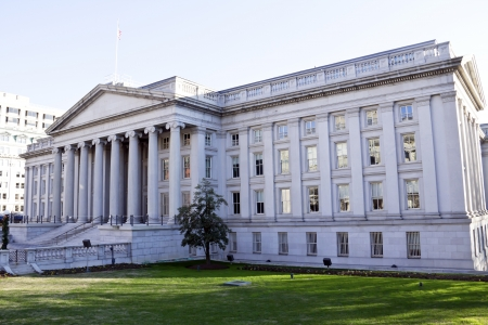 The Treasury Department in Washington DC