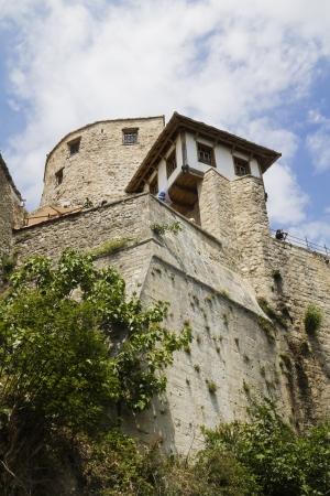 mostar: Mostar,Bosnia and Herzegovina, view of an Old Town building near Mostar Bridge