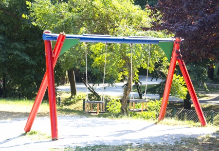 Children Park Playground, in a Sunny Summer Day Stock Photo - 15123628
