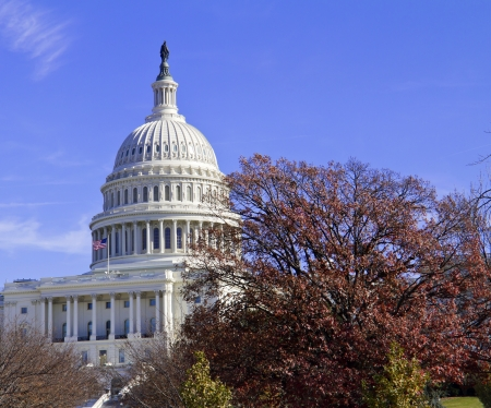 Washington DC , Capitol - at fall, US