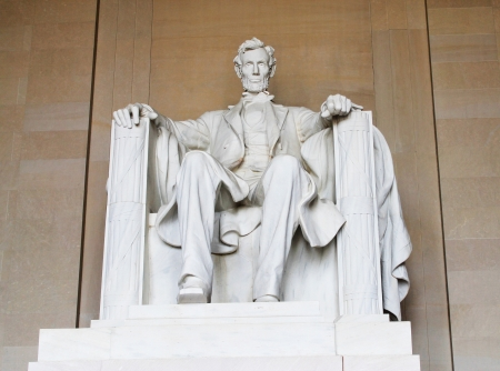 Washington DC, Abraham Lincoln statue in the Lincoln Memorial
