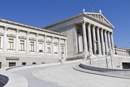 Austrian Parliament in Vienna , clear blue sky Stock Photo - 15175892
