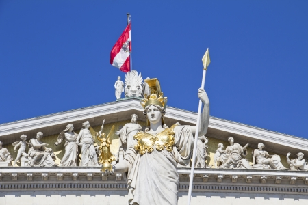 Austrian Parliament with Pallas Athene, landmark of Vienna  photo