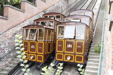 buda: funiculaire de ch�teau de Buda � Budapest