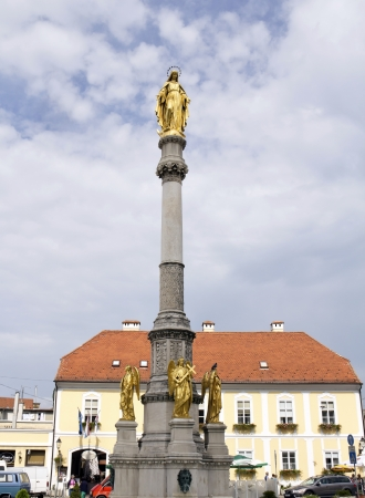 Virgin Mary statue in Zagreb  Croatia   photo
