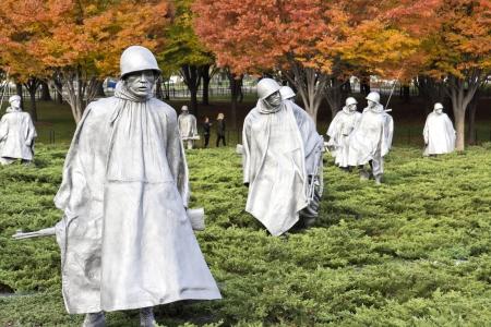 национальной достопримечательностью: Корейский военный мемориал в Вашингтоне, округ Колумбия