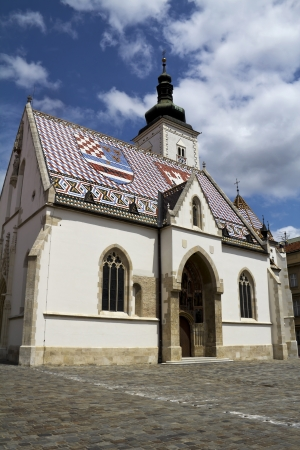 st  mark s: Chiesa di San Marco s a Zagabria, Croazia Archivio Fotografico