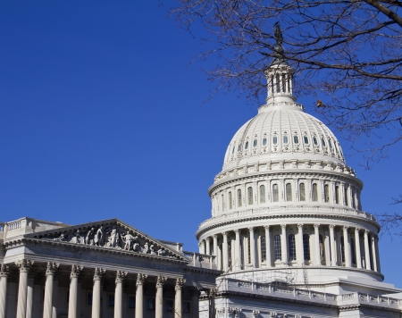 lobbyists: Washington DC , Capitol - detail, US  Stock Photo