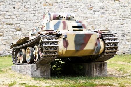tanque de guerra: Segunda Tanque de guerra, modelo PzKpfw I Ausf F VK 1801 Foto de archivo
