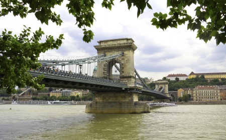 szechenyi: The Szechenyi Chain Bridge is a suspension bridge that spans the River Danube between Buda and Pest, the western and eastern sides of Budapest, the capital of Hungary