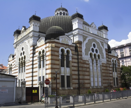 sephardic: Sofia, Bulgaria, Synagogue Stock Photo