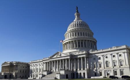lobbying: Washington DC , Capitol Building - detail, US  Stock Photo