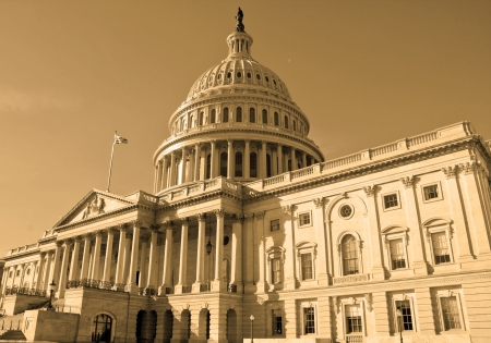 Washington DC , Capitol Building - detail, US, sephia