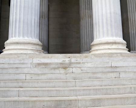 Classical marble columns Stock Photo