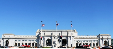 View of Union station in Washington DC Banque d'images