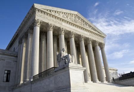 court judge: Supreme Court building in Washington, DC, United States of America  Stock Photo