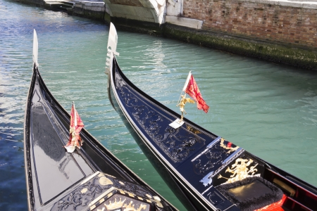 gondolas in venice, italy photo