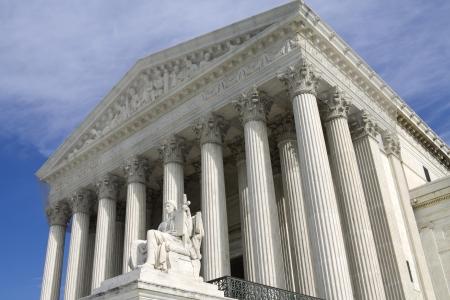 United States Supreme Court Building in Washington DC Stock Photo