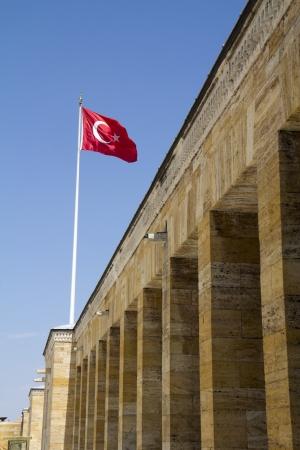 Turkish Flag, Anitkabir in Ankara, Turkey  Banque d'images