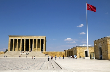 Ankara, Turquie - Mausol?e d'Atat?rk, Mustafa Kemal Atat?rk, le premier pr?sident de la R?publique de Turquie Banque d'images - 19690770