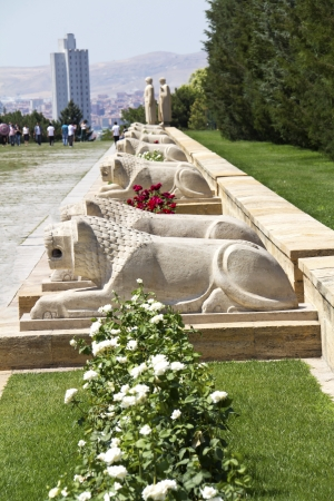 Ankara - Turkey, Mausoleum of Ataturk, Lions Road  Stock fotó