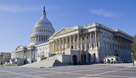 lobbyists: Washington DC , Capitol Building - detail, US  Stock Photo