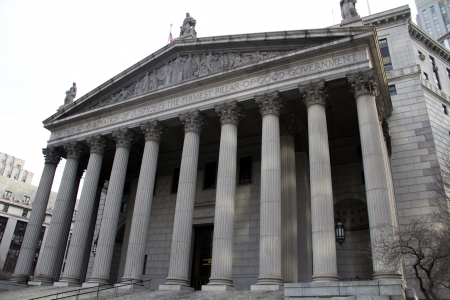 The New York Supreme Court in New York City Stock Photo