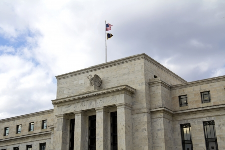 fed: headquarter of the Federal Reserve in Washington, DC, USA,FED  Stock Photo