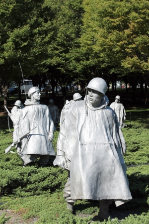 Korean War Memorial at Washington Mall in Washington DC Stock Photo - 22057030