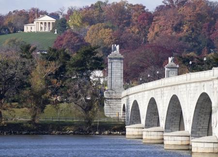 Washington DC - Memorial Bridge  on Potomac River  Banque d'images