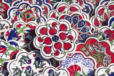 Ancien Handmade Tiles vente turque pour le marché Banque d'images - 22176117