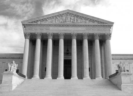 Washington, DC, United States of America , Supreme Court building - black and white