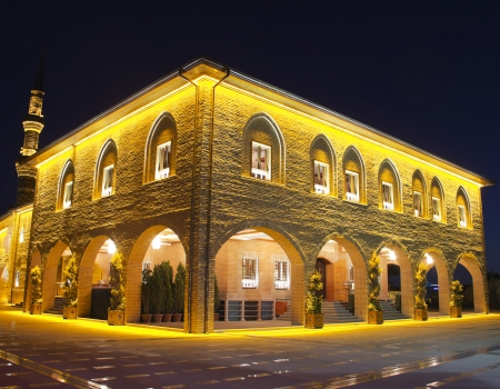 historical and the famous mosque in Ankara, Hadji Bayram Mosque