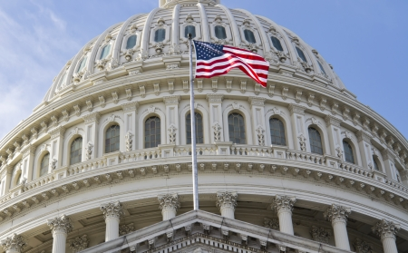 government: Washington DC , Capitol Building - detail, US  Stock Photo