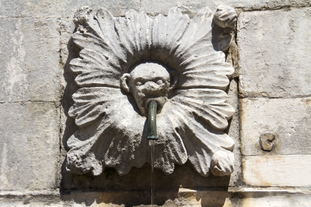 Croatia, Dubrovnik, Onofrio Fountain in the historical center photo