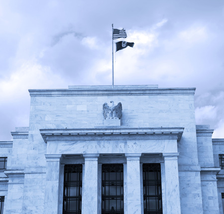 headquarter: headquarter of the Federal Reserve in Washington, DC, USA,FED -  cyanotype