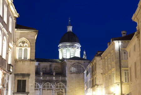 Dubrovnik , Croatia, night view photo