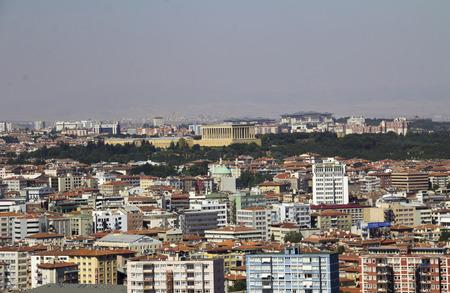 mustafa: Ankara cityscape with mausoleum of Mustafa Kemal Ataturk, Ankara, Turkey
