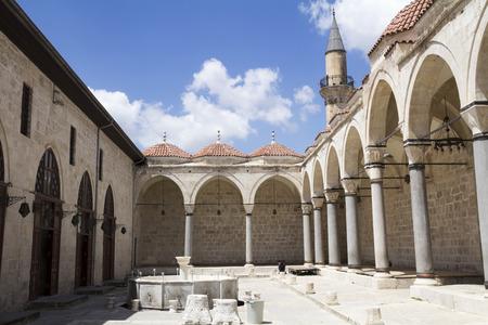 tarsus: Courtyard of Ulu Mosque in Tarsus ,Turkey Stock Photo