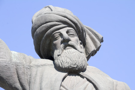 statue of Mevlana Rumi Editorial