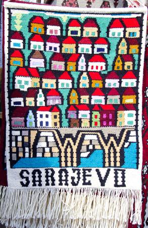 herzegovina: carpets in Sarajevo, Bosnia and Herzegovina