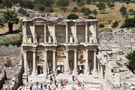 hadrian: Facade of ancient Celsius Library in Ephesus, Turkey
