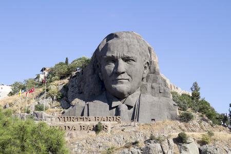 founder: IZMIR, TURKEY - AUG 02 :Statue of Ataturk, the founder of modern Turkey at Buca on August 02, 2014 in Izmir Editorial