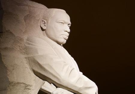 Monument voor Dr Martin Luther King. Het gedenkteken is Amerika \ Redactioneel